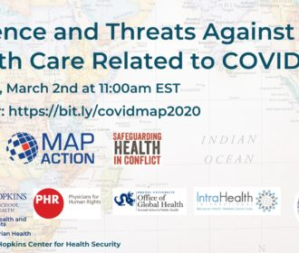 Webinar: Violence and Threats Against Health Care Related to COVID-19